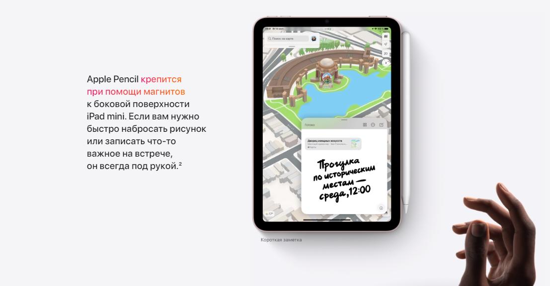 купить Apple iPad mini 2021 64 GB Wi-Fi + Cellular Starlight MK8C3