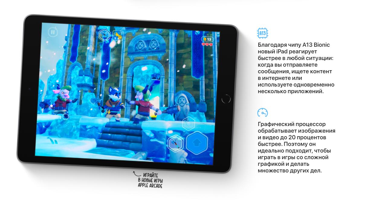 """планшет Apple iPad 10.2"""" 2021 256 GB Wi-Fi Silver MK2P3"""
