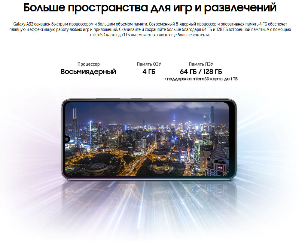 Samsung Galaxy A32 4/128 GB Чёрный цена