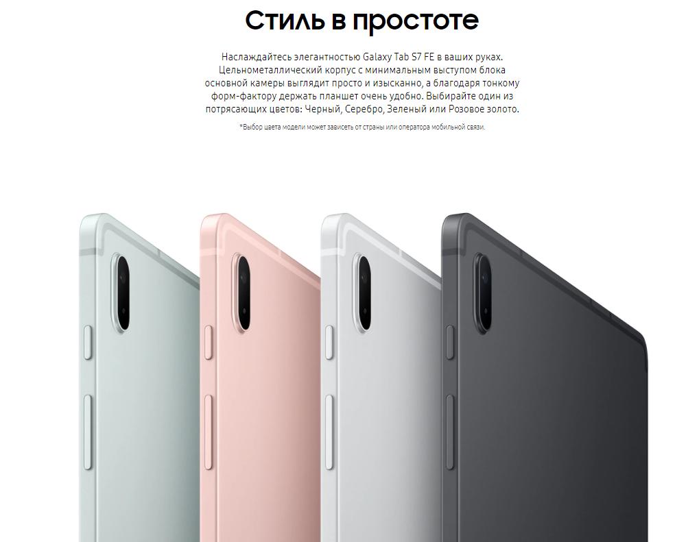планшет Samsung Galaxy Tab S7 FE Wi-Fi 4/64 GB Чёрный