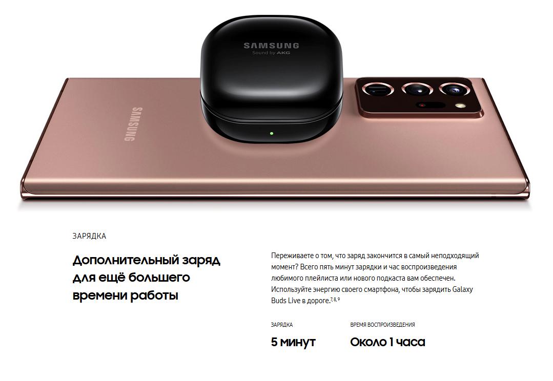 Samsung Galaxy Buds Live Чёрный цена