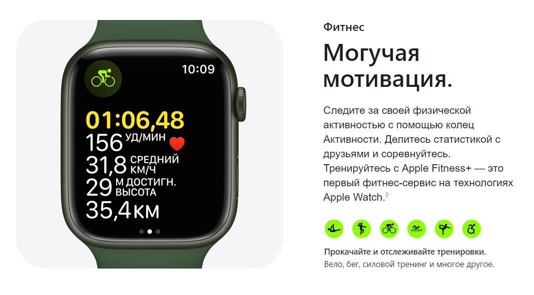 Apple Watch Series 7 41 мм Алюминий Сияющая звезда MKMY3RU-A в беларуси