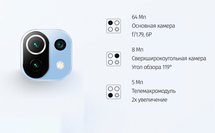 Xiaomi Mi 11 Lite 6/64 GB Чёрный в минске