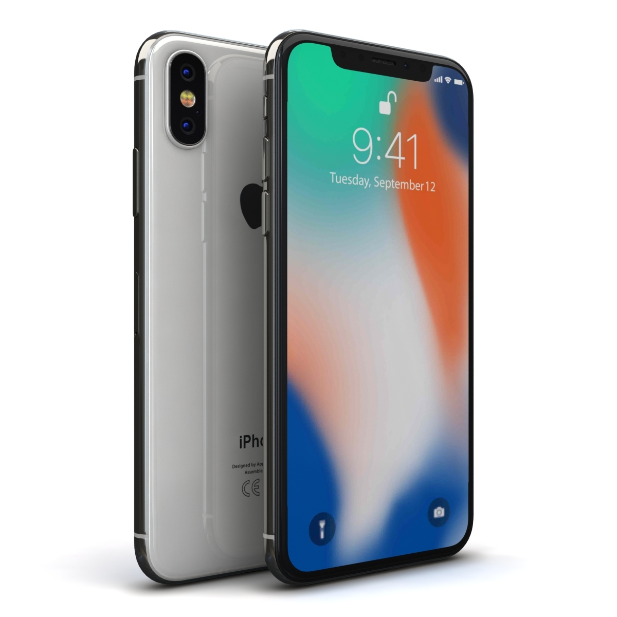 айфон 10 64 серебристый